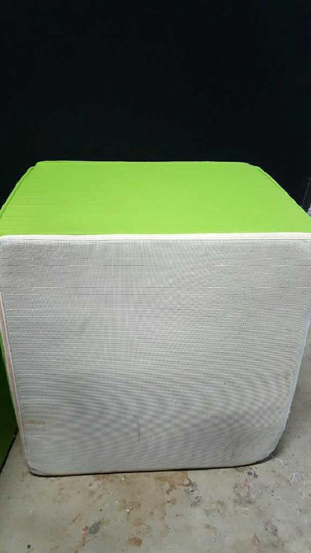 Pair of Lime Green Foam Ottomans Pair of Lime Green - 6