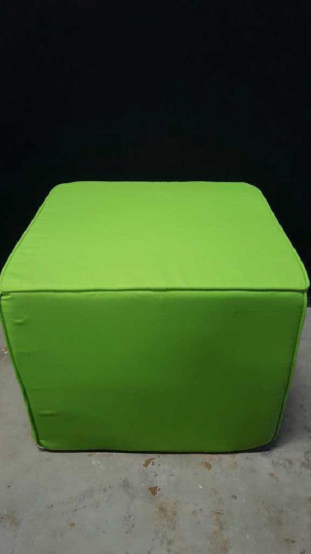 Pair of Lime Green Foam Ottomans Pair of Lime Green - 8