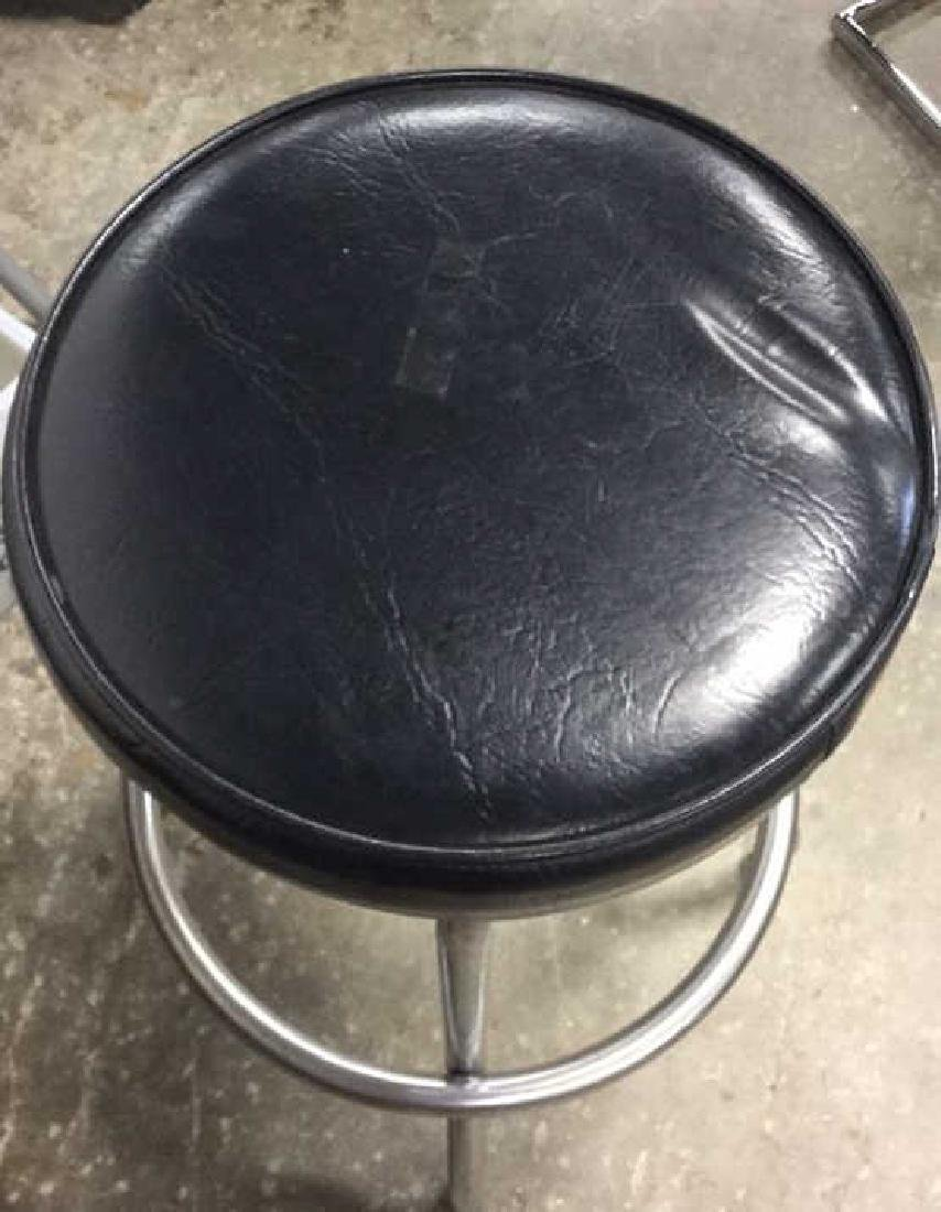 Vintage Chrome Bar Stool Vintage bar stool seating with - 2
