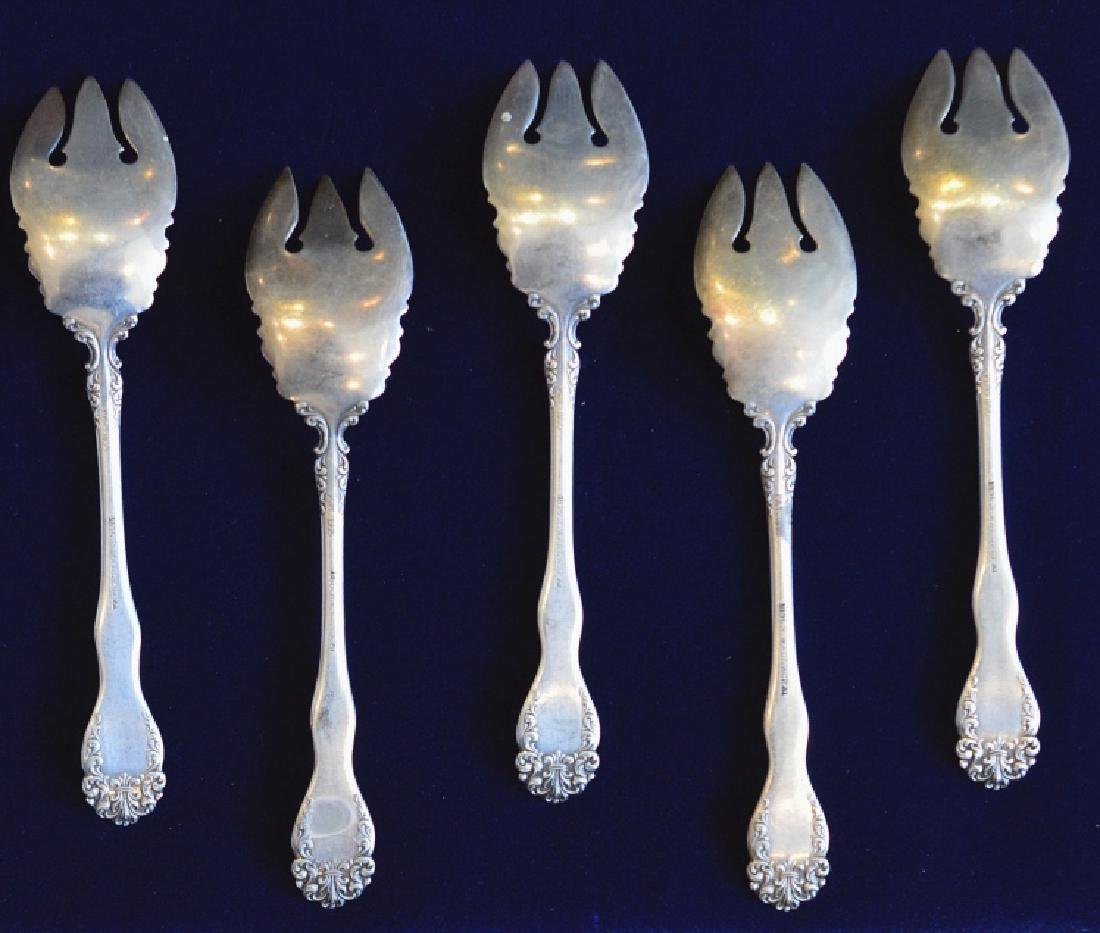Set of Five Wallace Dinner Forks Signed R. Wallace - 2
