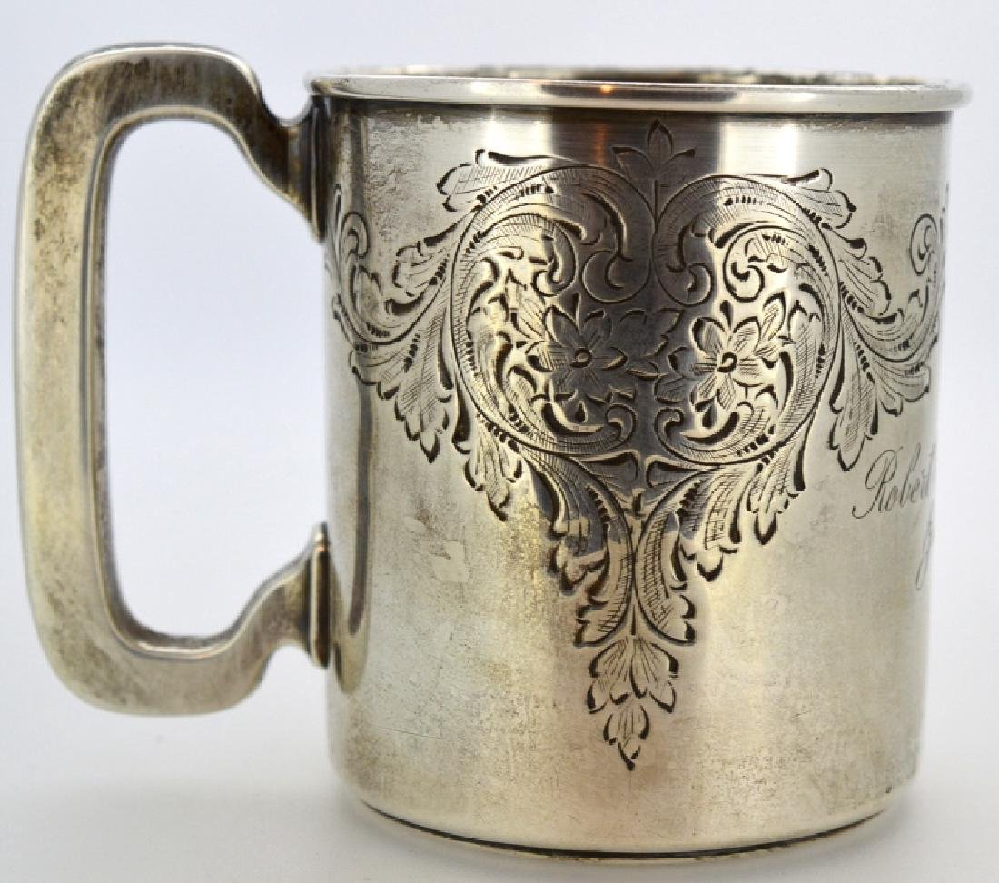 1909 Engraved Sterling Silver Cup .925 Sterling Silver