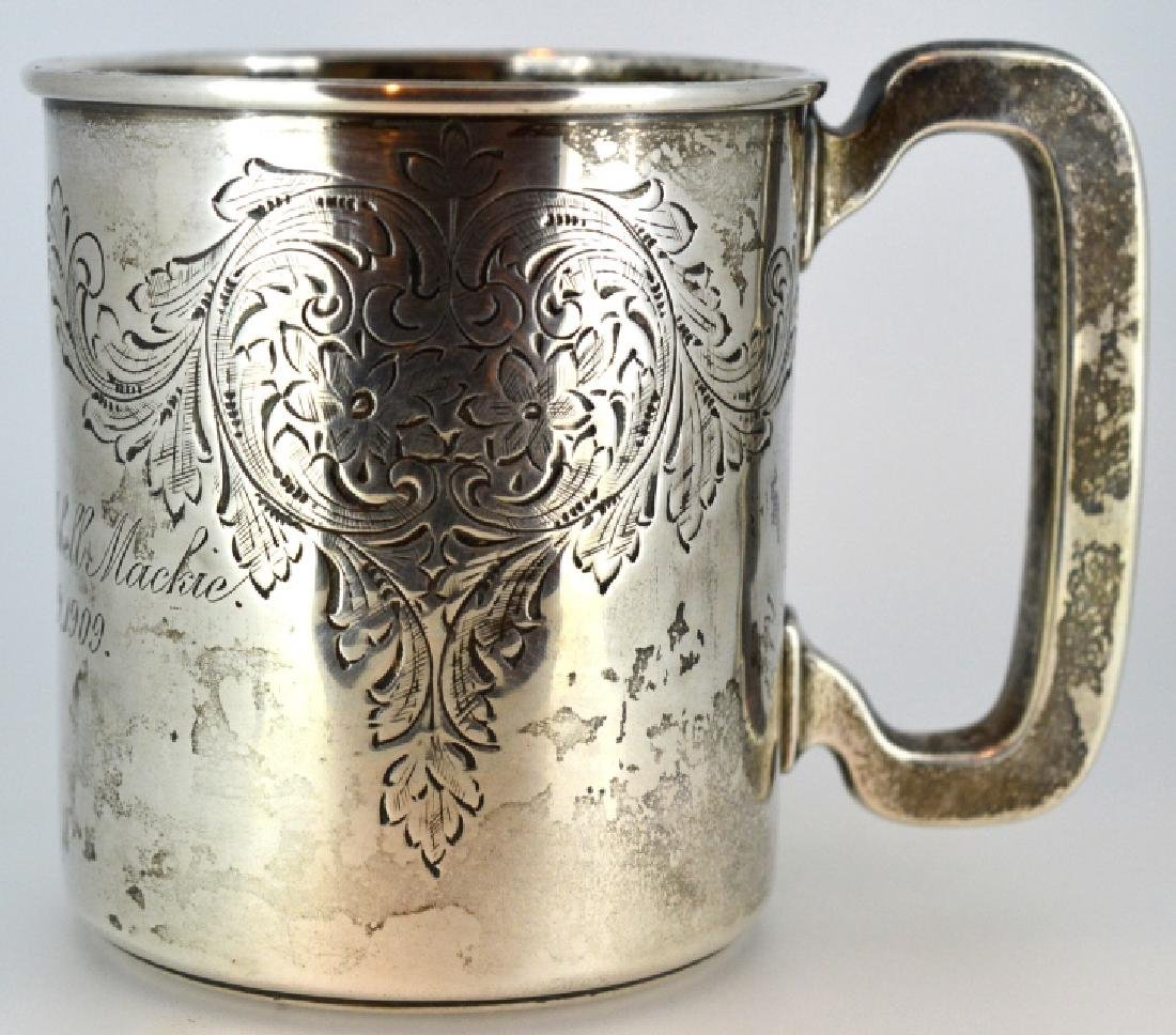 1909 Engraved Sterling Silver Cup .925 Sterling Silver - 2