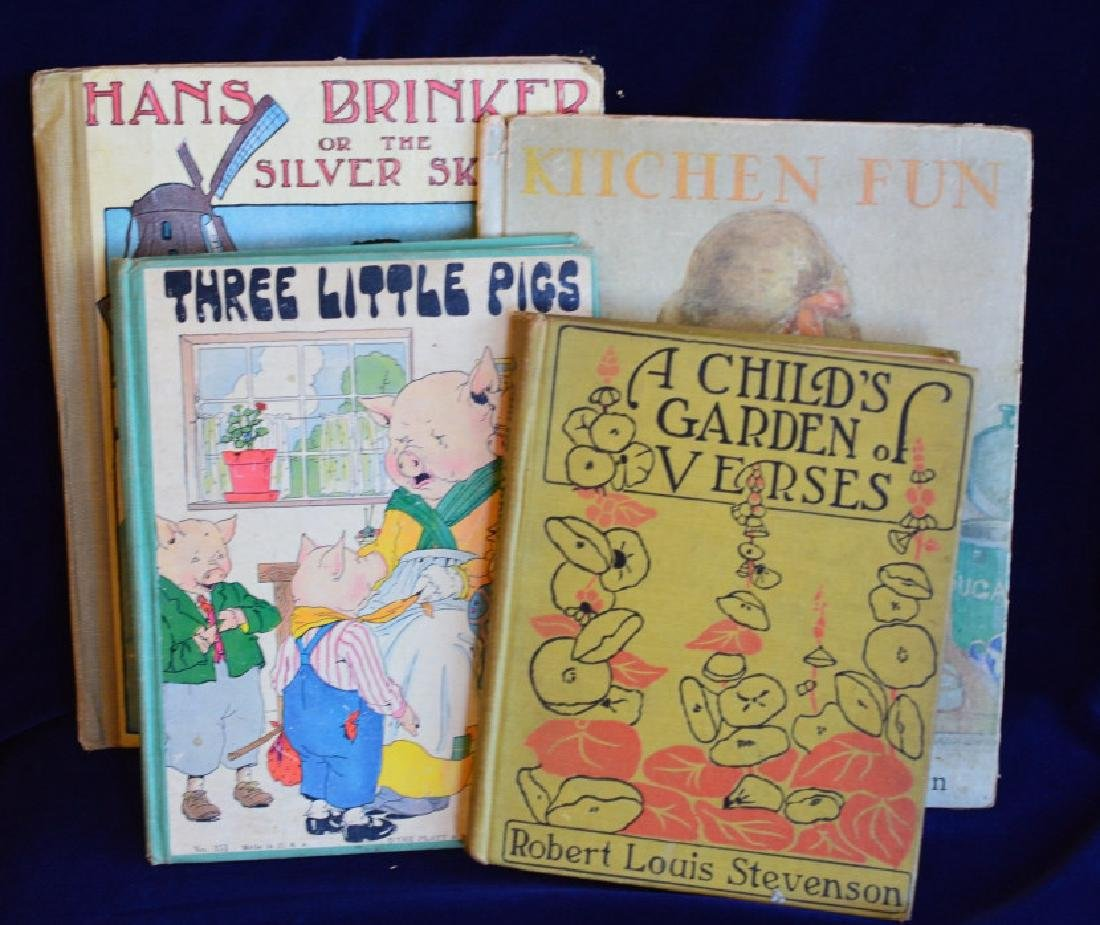 Antique Children's Book Collection 4 Volumes of Vintage