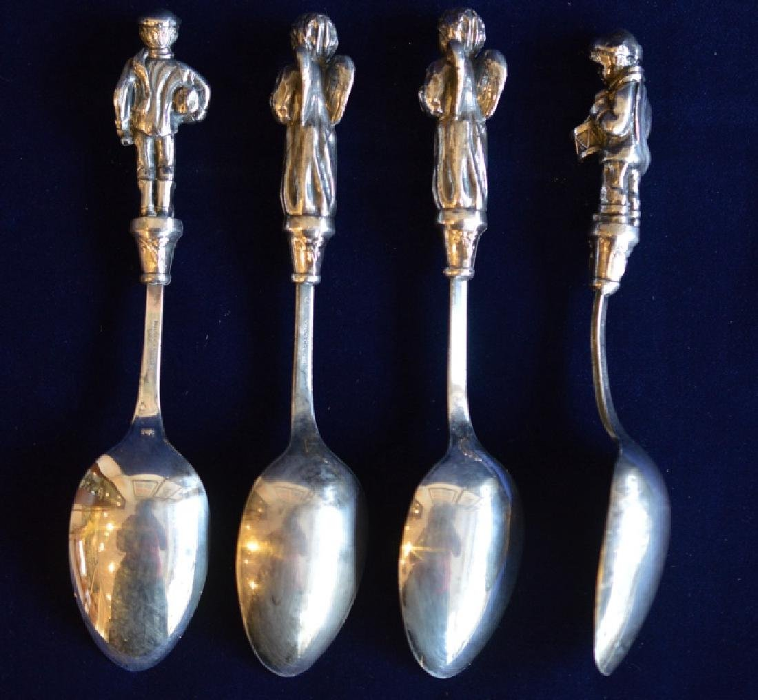 Silverplate Christmas Spoon Set Set of 4 Engraved - 2