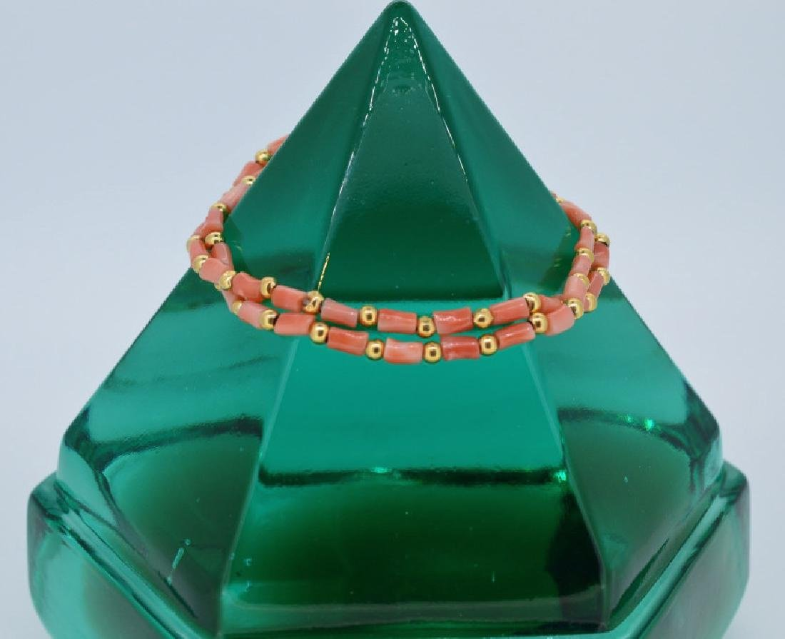 """Double Strand Coral Bracelet 7"""", Double Strand Coral"""