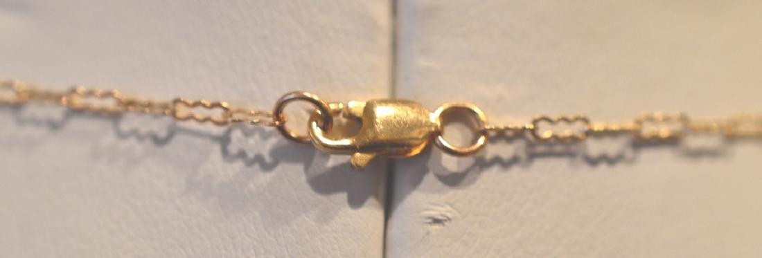 """Dainty Black Onyx & 14k Gold Necklace 24"""", 6.5MM Black - 3"""