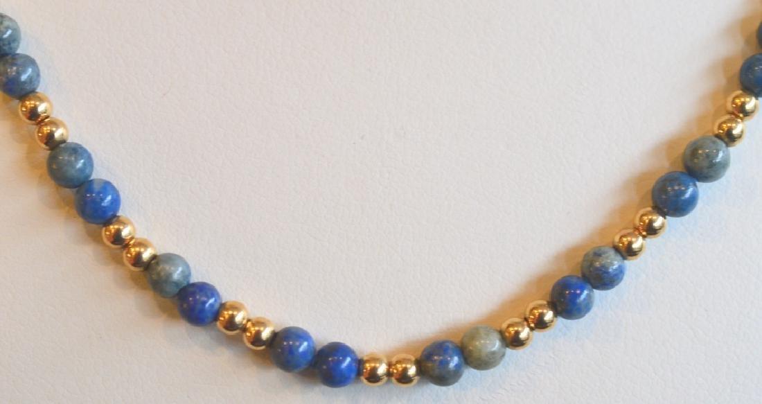 "Sodalite Necklace and Bracelet Set 15 1/2"" Sodalite - 2"