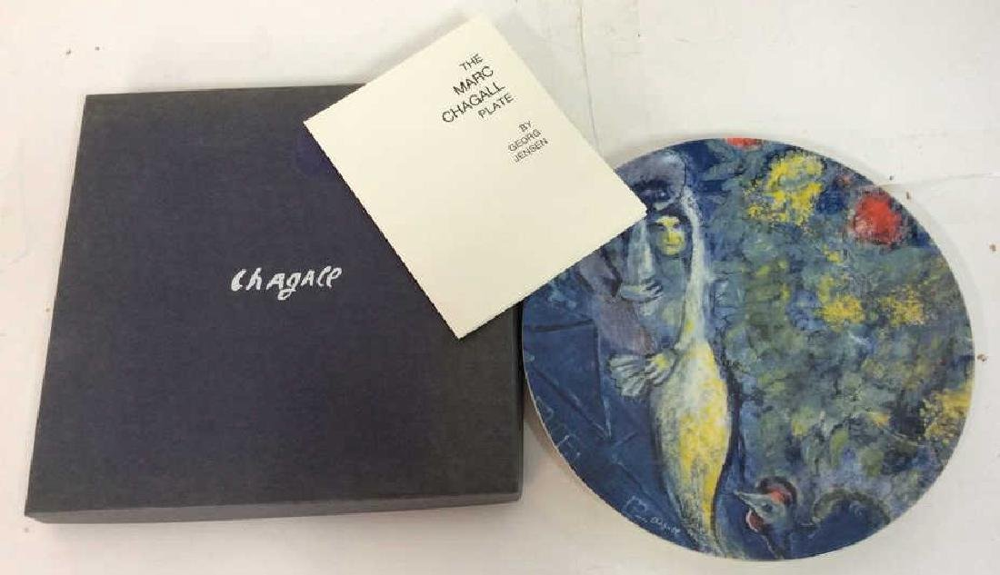 Marc Chagall Plate by Georg Jensen Original Box and