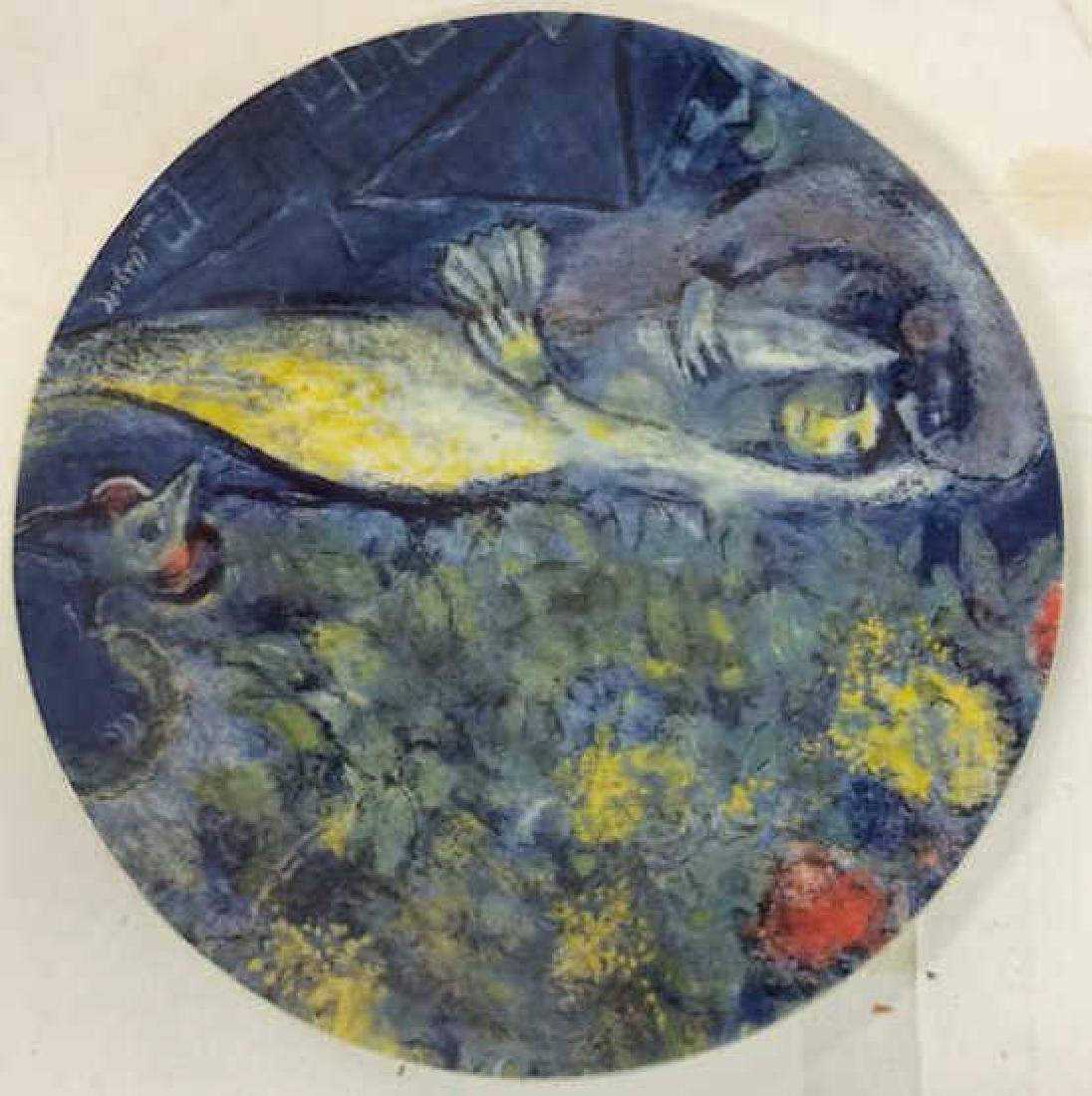 Marc Chagall Plate by Georg Jensen Original Box and - 2