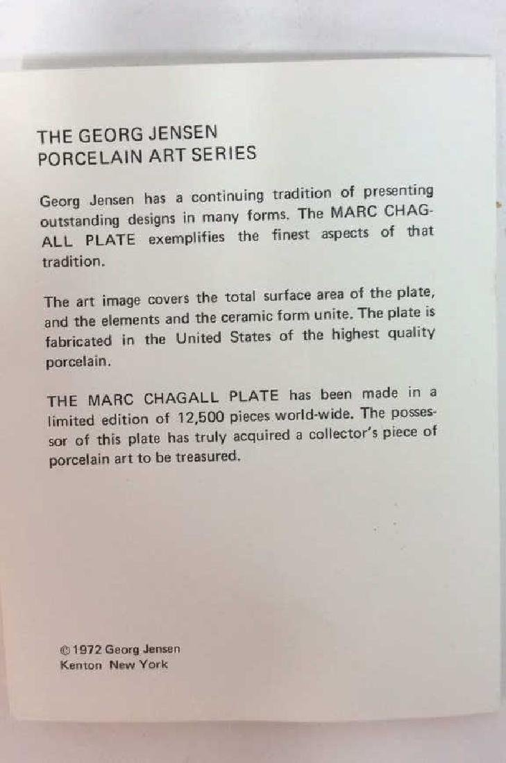 Marc Chagall Plate by Georg Jensen Original Box and - 9