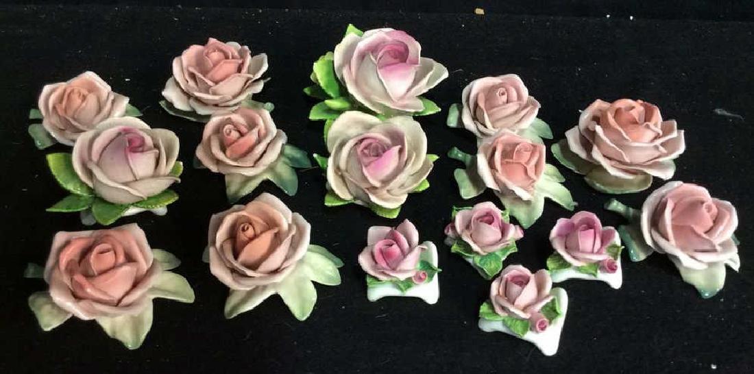 16 Germany Marked Porcelain Roses Decorative