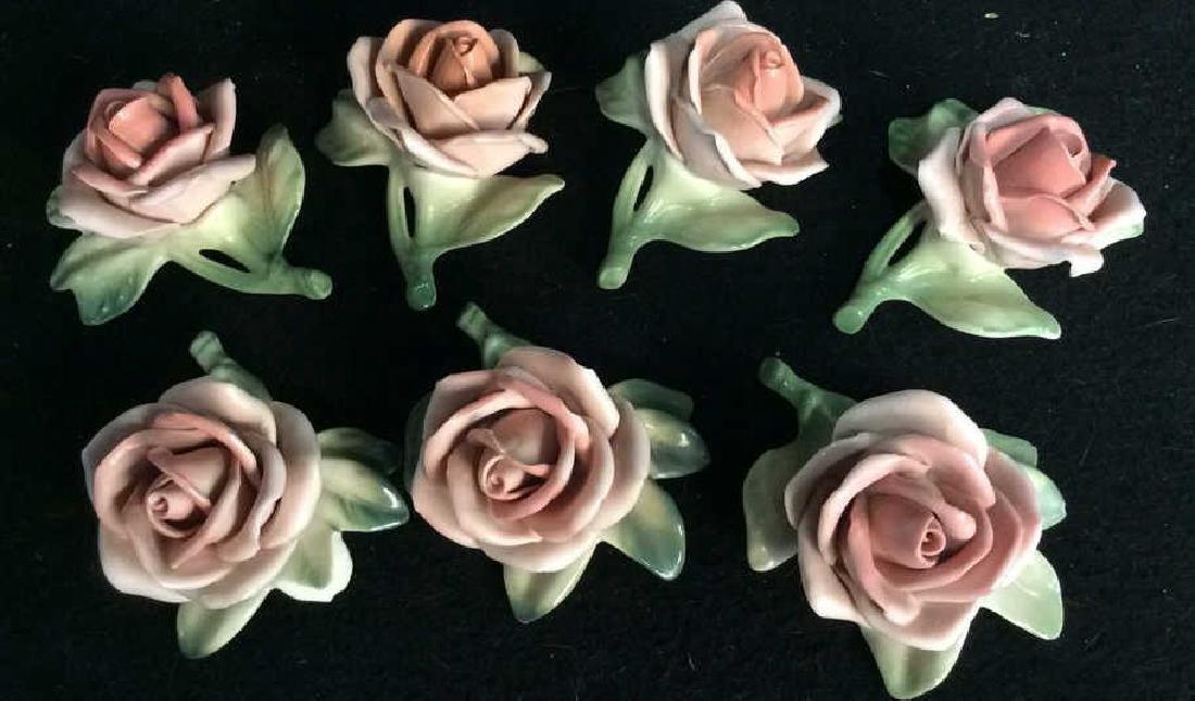 16 Germany Marked Porcelain Roses Decorative - 2