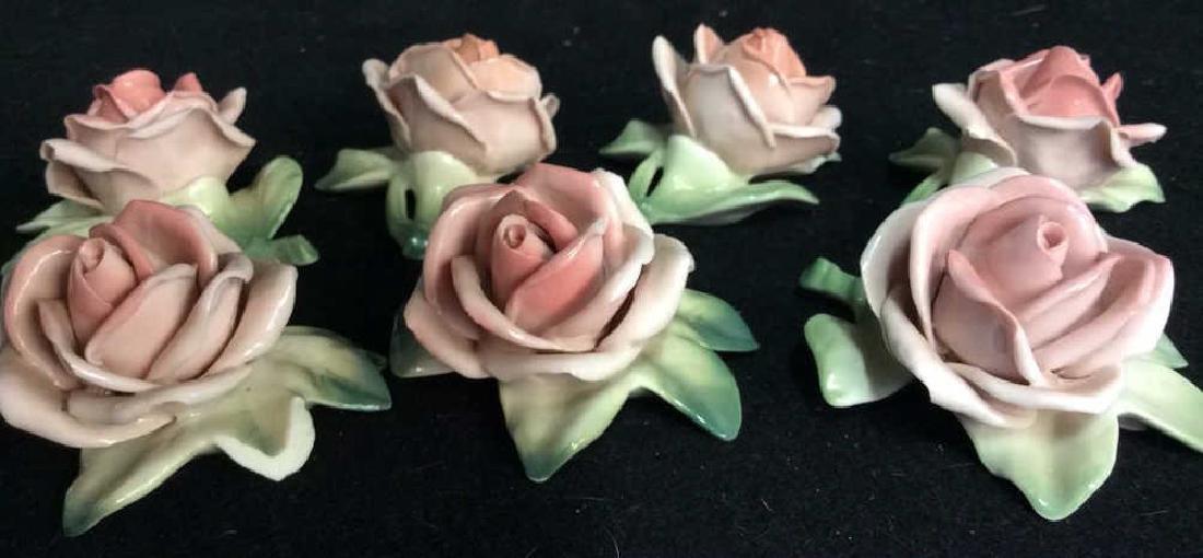 16 Germany Marked Porcelain Roses Decorative - 3