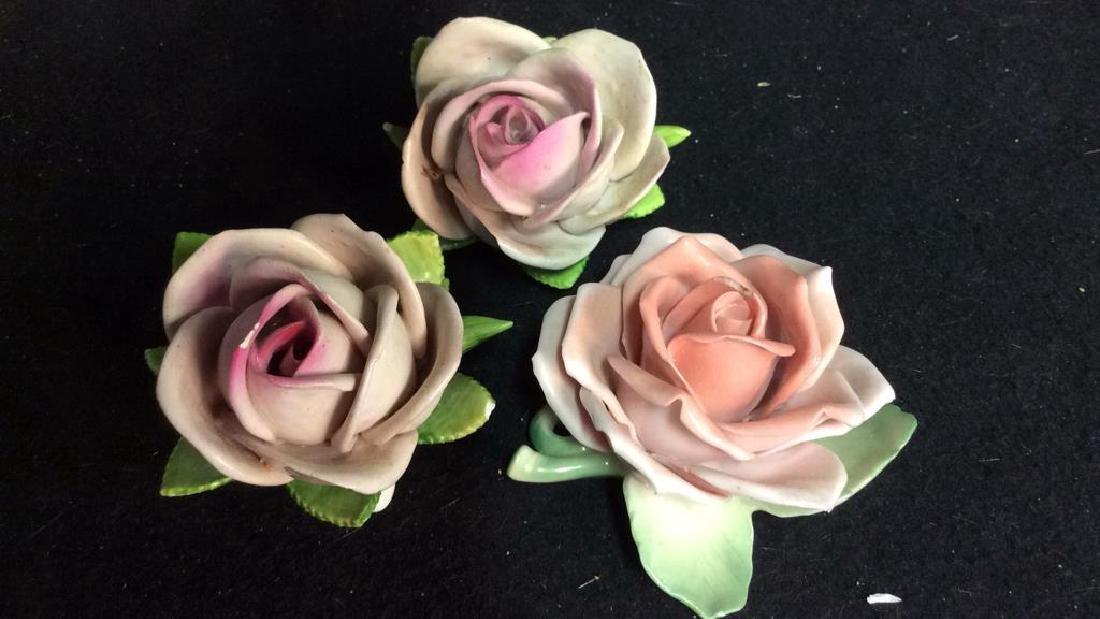 16 Germany Marked Porcelain Roses Decorative - 4