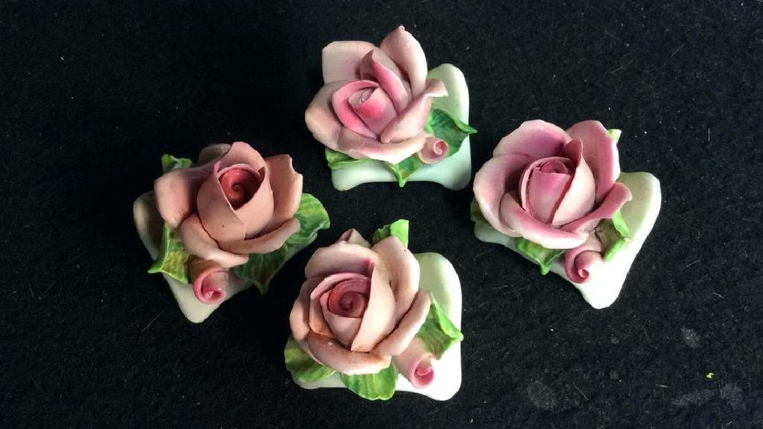 16 Germany Marked Porcelain Roses Decorative - 5