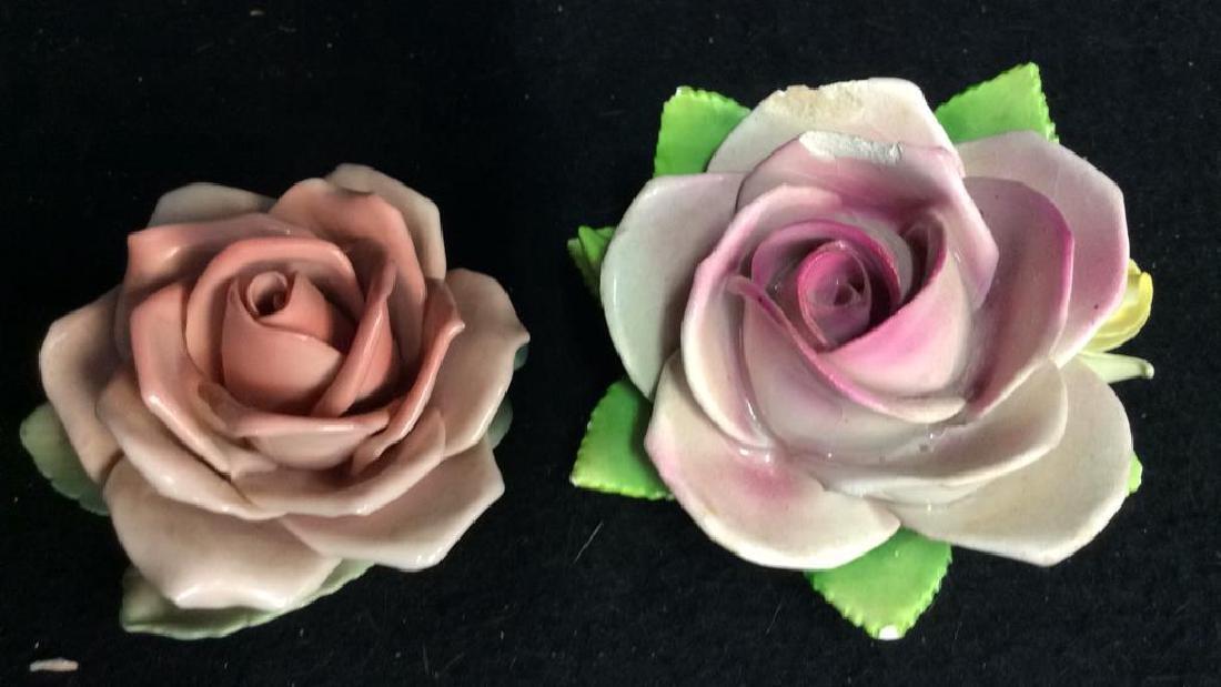 16 Germany Marked Porcelain Roses Decorative - 6