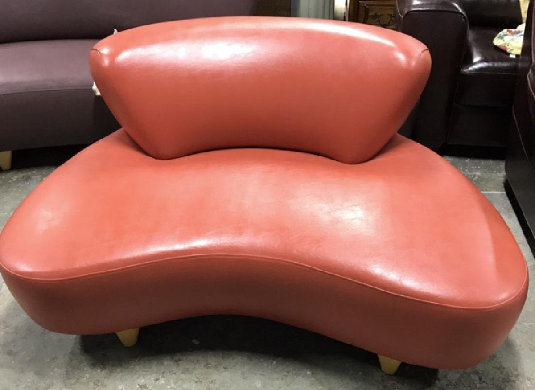 Modernica SOHO NY Coral Leather Lounge Chair Modernica
