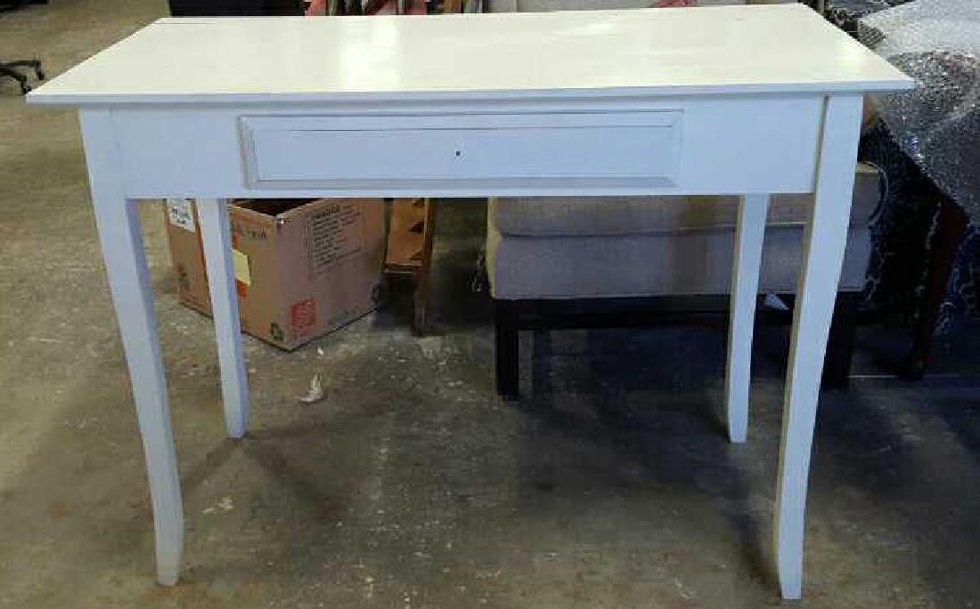 White Painted Wood Desk White Painted Wood Desk, one