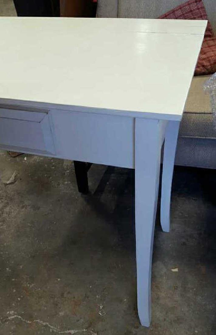 White Painted Wood Desk White Painted Wood Desk, one - 3