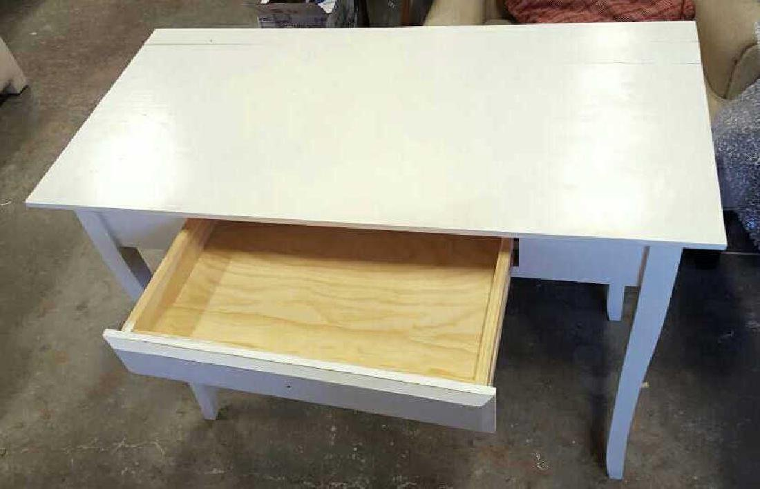 White Painted Wood Desk White Painted Wood Desk, one - 4