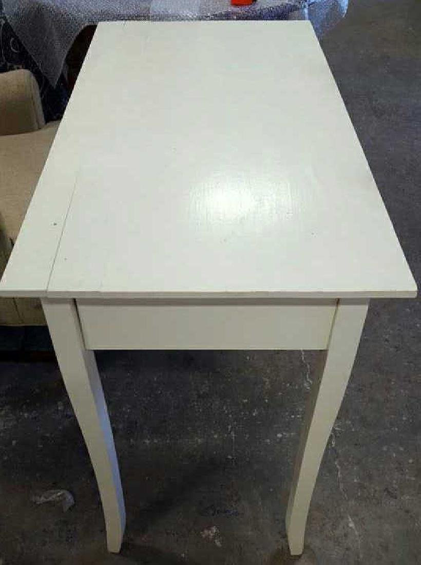 White Painted Wood Desk White Painted Wood Desk, one - 5