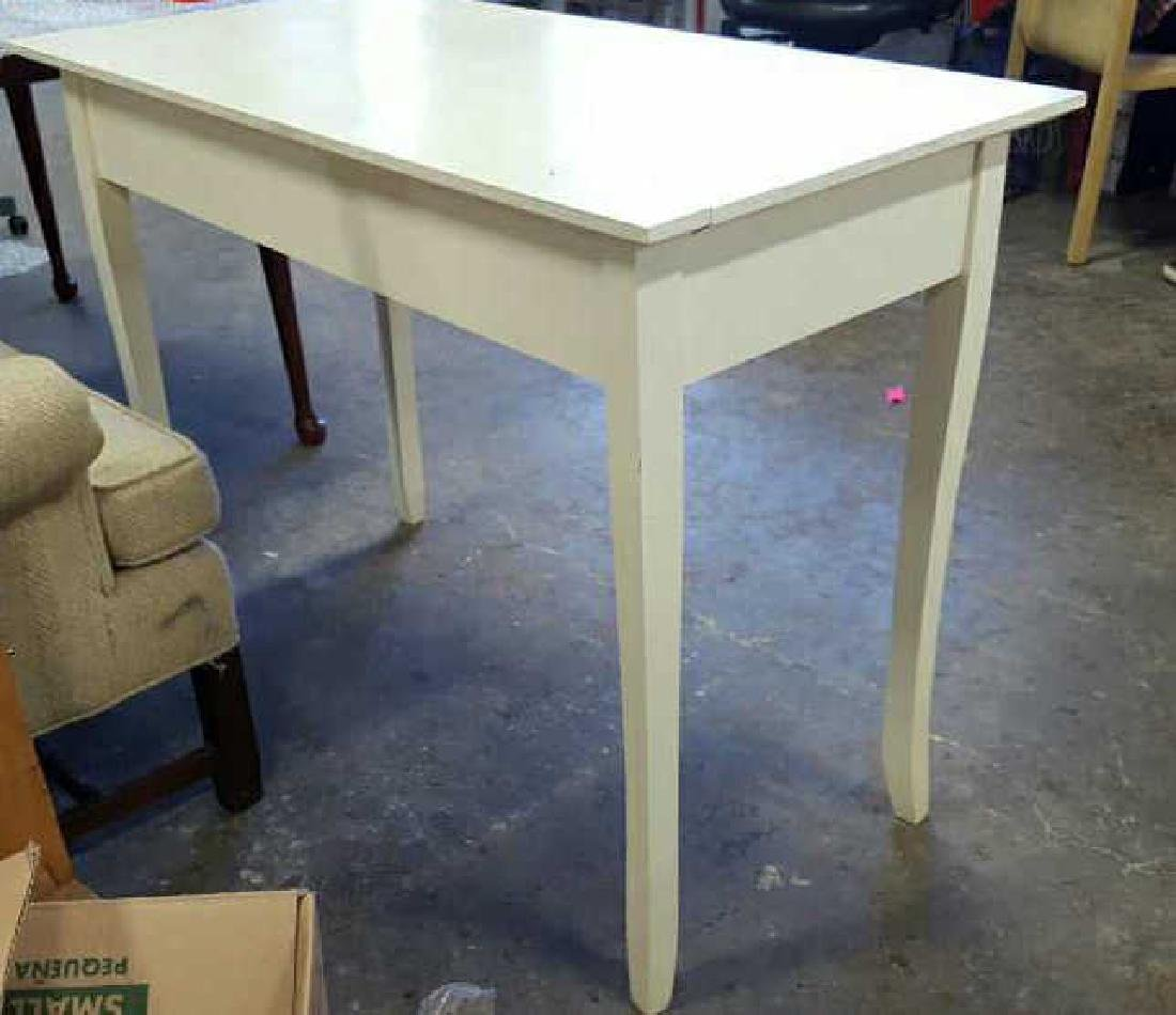 White Painted Wood Desk White Painted Wood Desk, one - 6