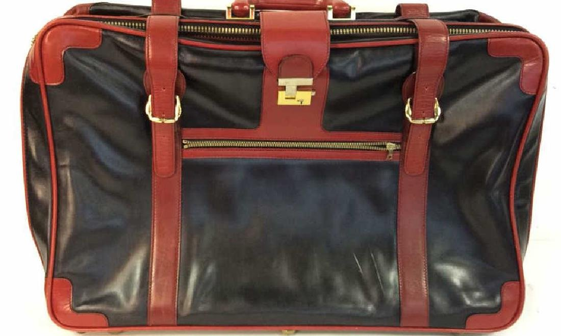 Vintage Leather Bally Suitcase Handsome two to one