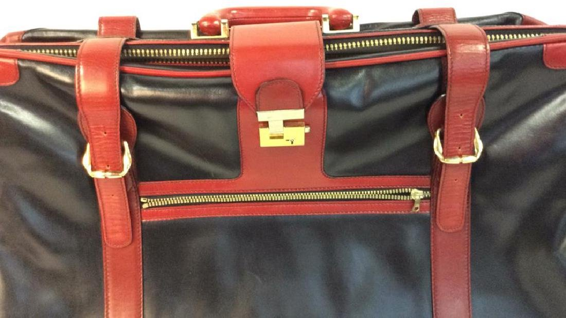 Vintage Leather Bally Suitcase Handsome two to one - 2