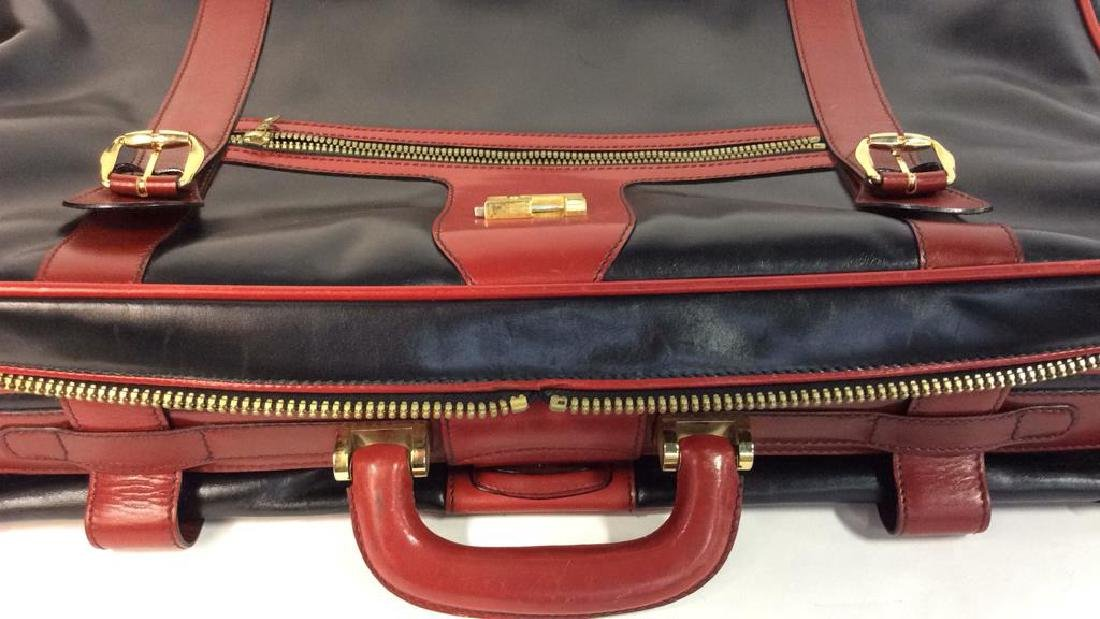 Vintage Leather Bally Suitcase Handsome two to one - 7