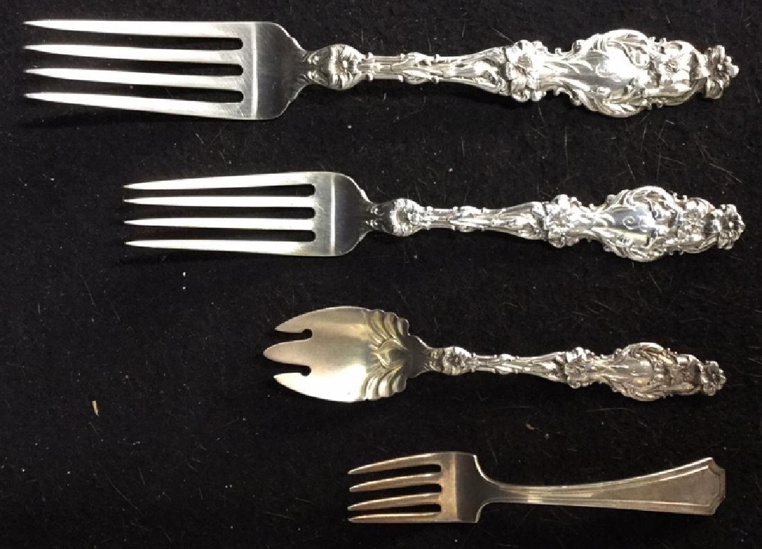 127 Piece Antique Sterling Silver Service Set - 3