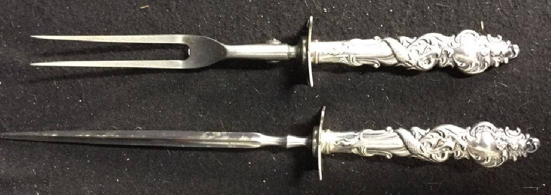 127 Piece Antique Sterling Silver Service Set - 6