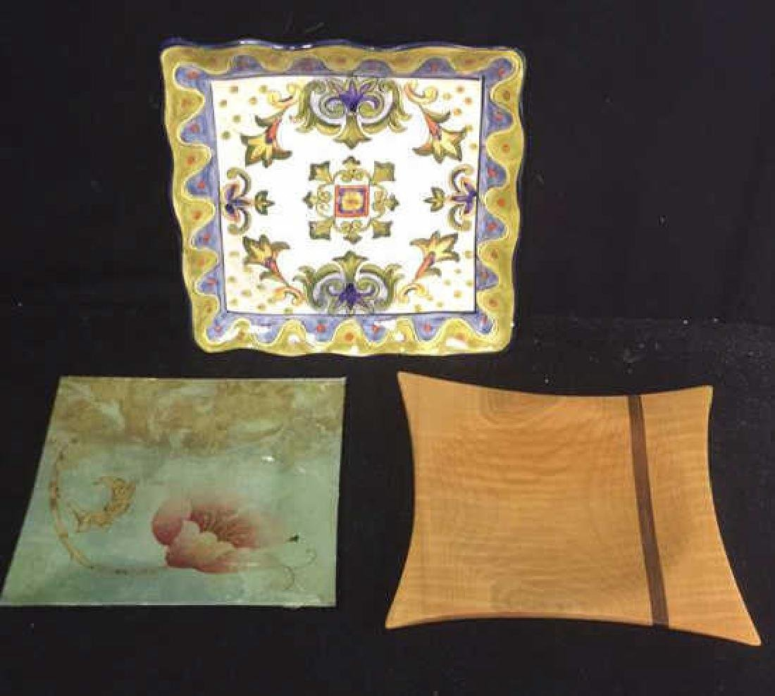 Group of Decorative Table Top Art Trays