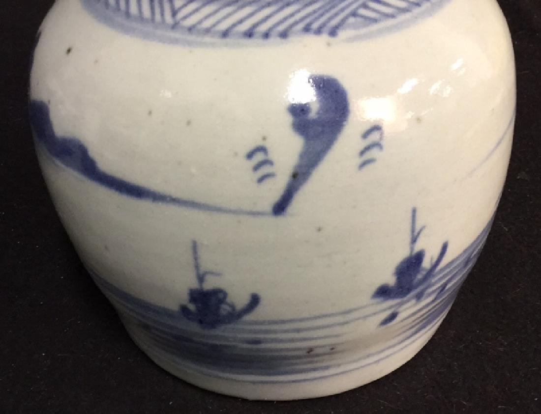 Pair of Antique Chinese Canton Ginger Jars - 7