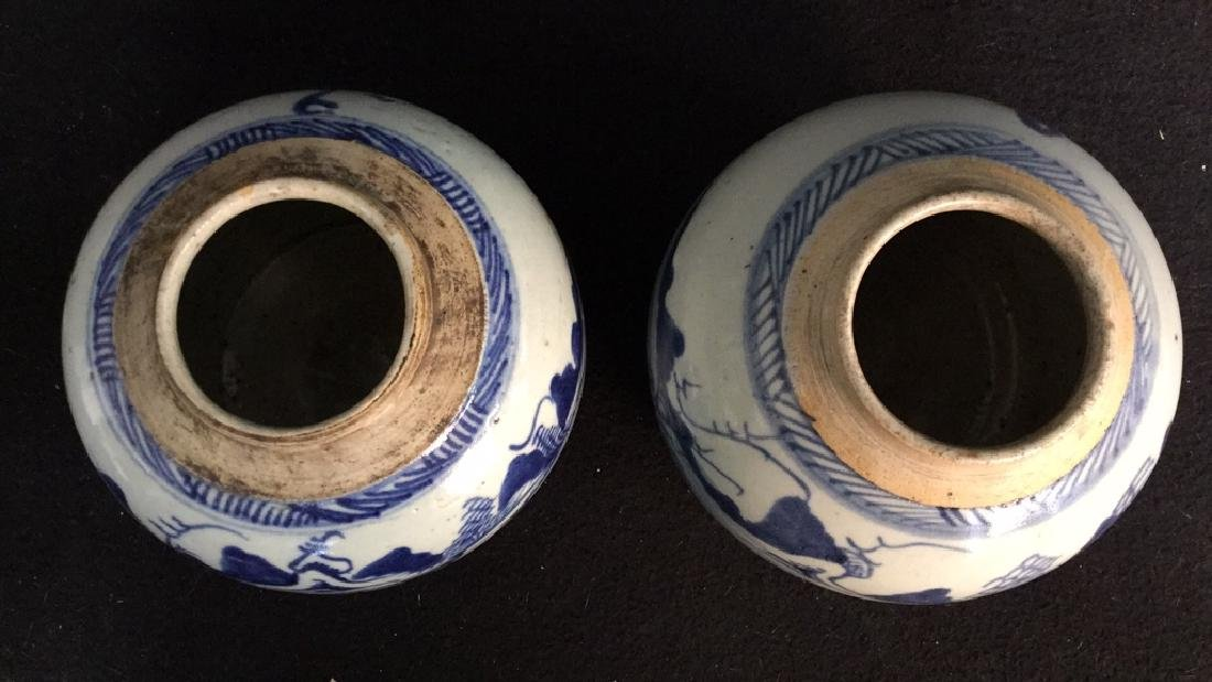 Pair of Antique Chinese Canton Ginger Jars - 9