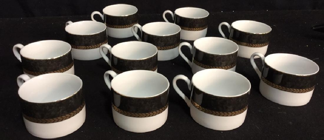 Set !2 Of Retroneu China Coffee Cups