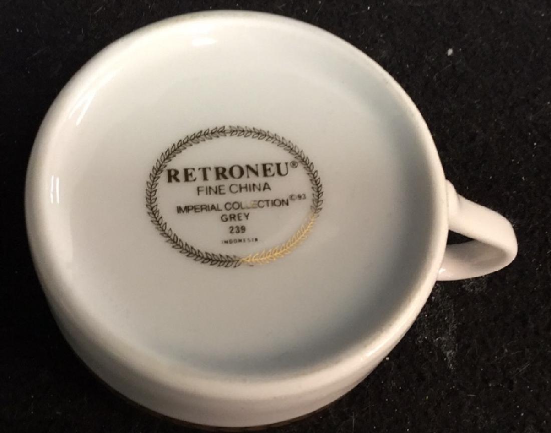 Set !2 Of Retroneu China Coffee Cups - 4