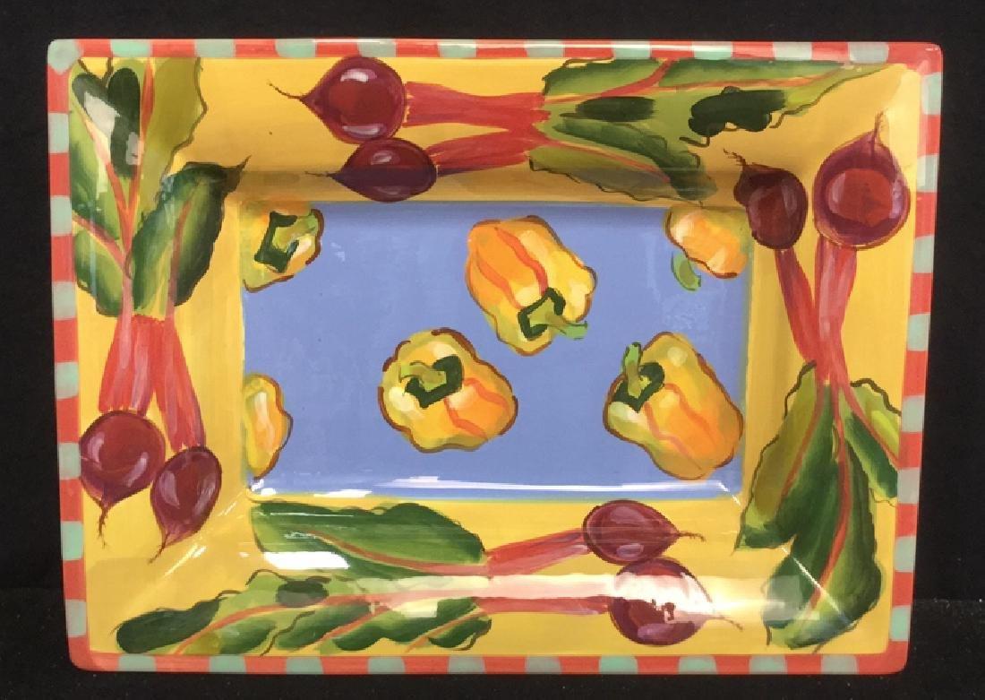 Droll Too Design Vegetables Platter Jean Townsend