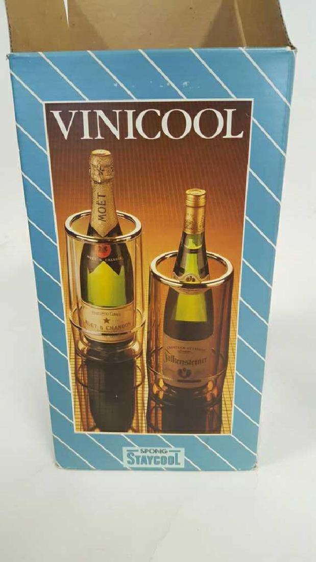 Scrolled Iron Wine Rack and Vinicool - 10