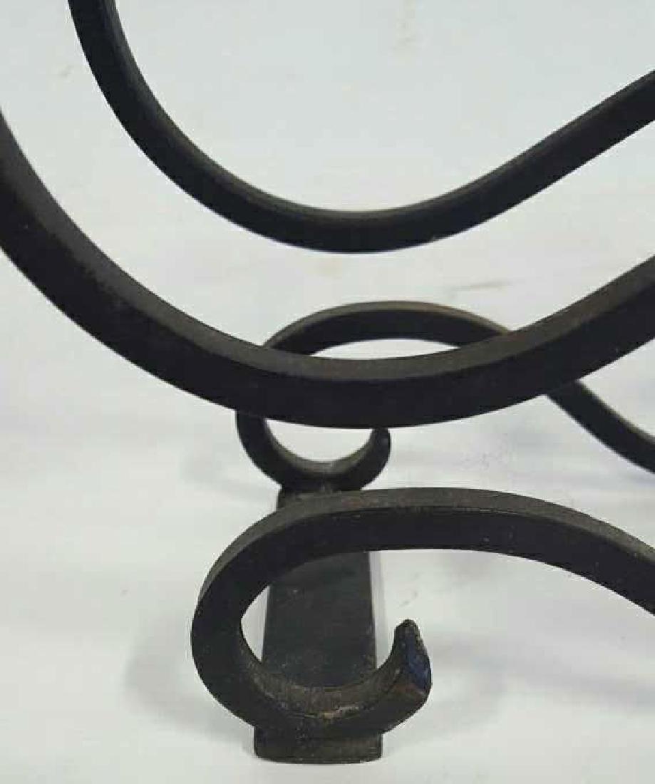 Scrolled Iron Wine Rack and Vinicool - 5