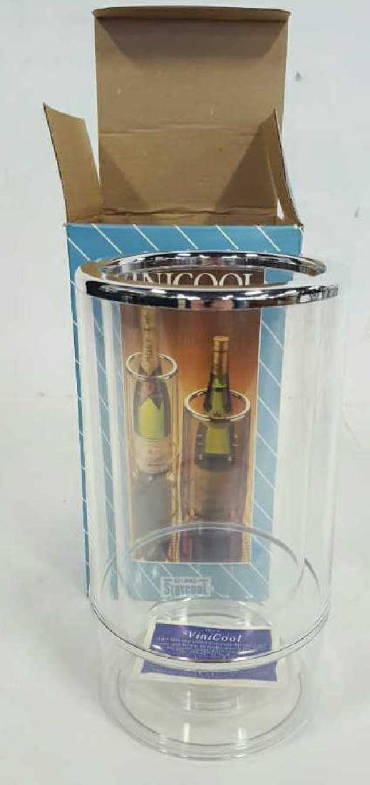 Scrolled Iron Wine Rack and Vinicool - 7