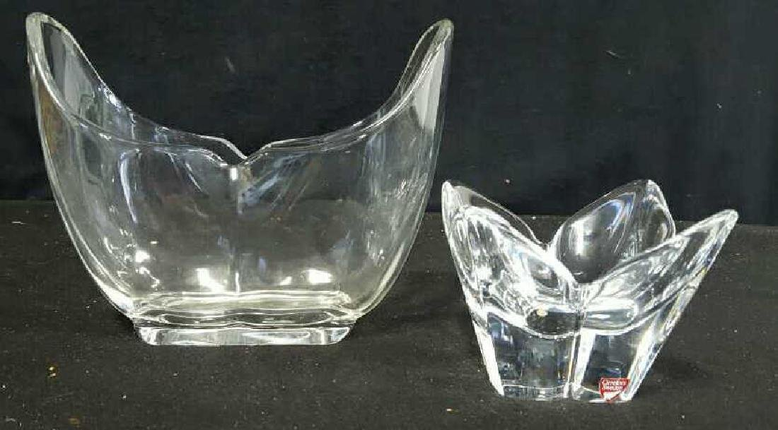 2 Crystal Vases one Orrefors, 1 H