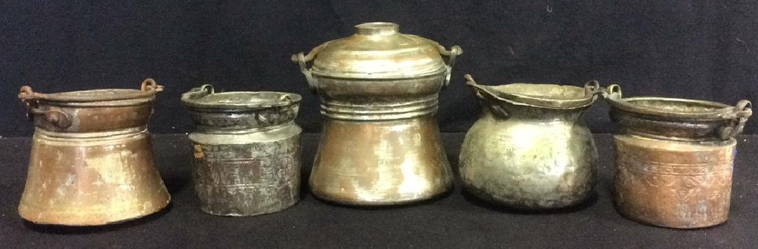 Antique Hand Made Hammered Copper and Metal Pots