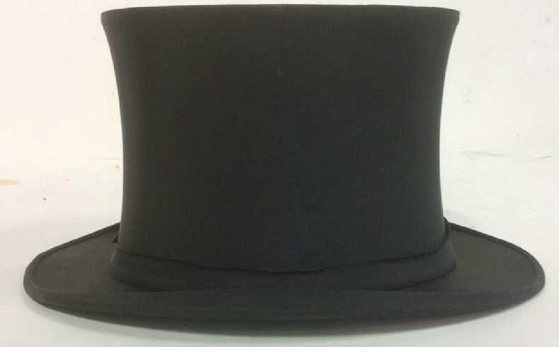 Antique Knox LFA Top Hat with Box and Brush - 2