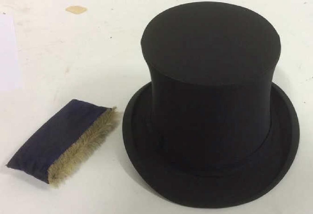 Antique Knox LFA Top Hat with Box and Brush - 5