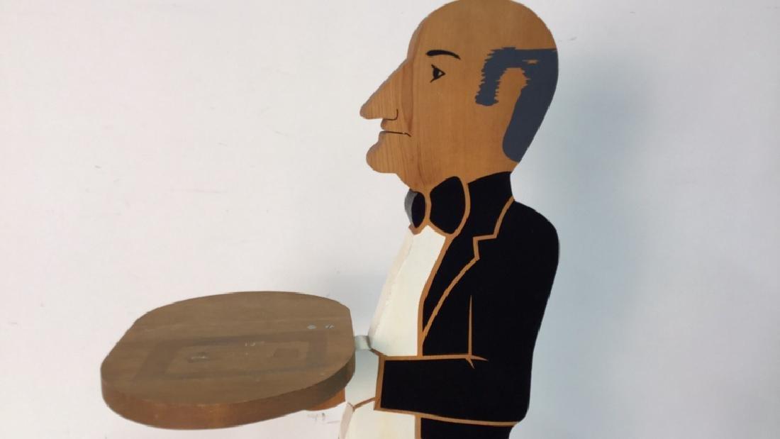 Folk Art Wood Dumbwaiter - 2