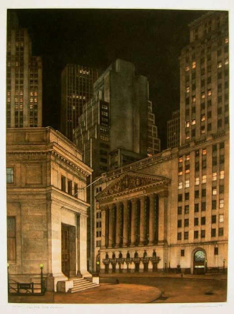 Frederick MERSHIMER NY Stock Exchange Etching
