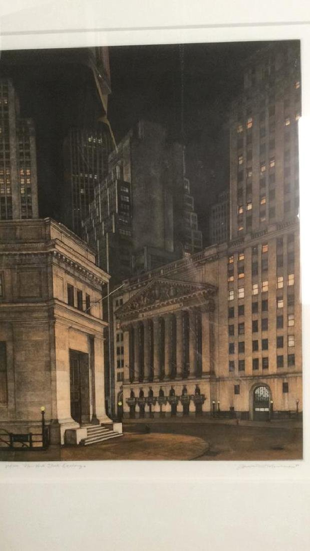 Frederick MERSHIMER NY Stock Exchange Etching - 2
