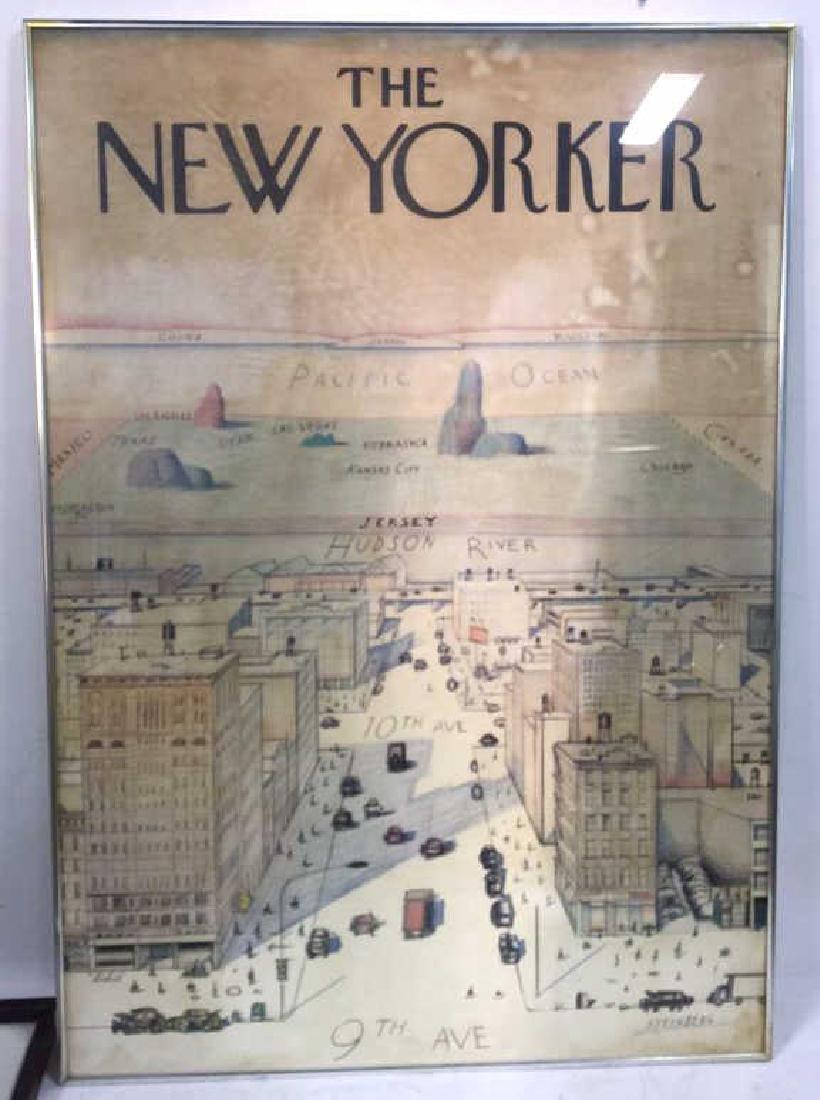 Saul Steinberg New Yorker Framed Poster