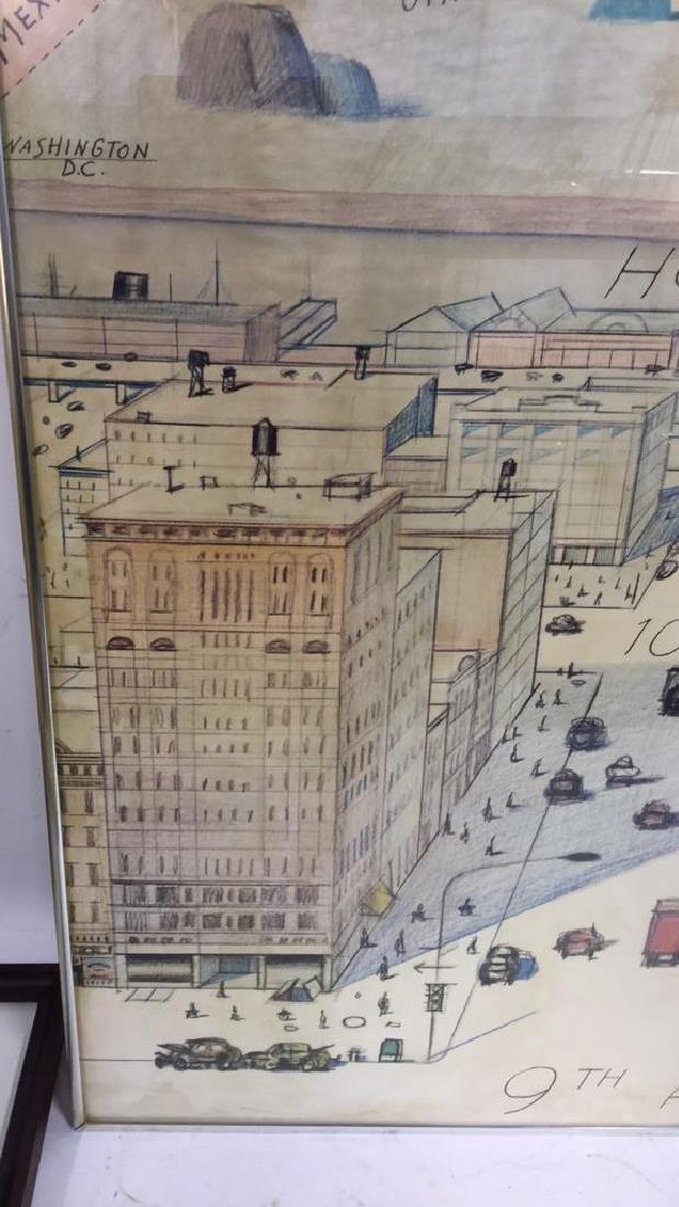 Saul Steinberg New Yorker Framed Poster - 3