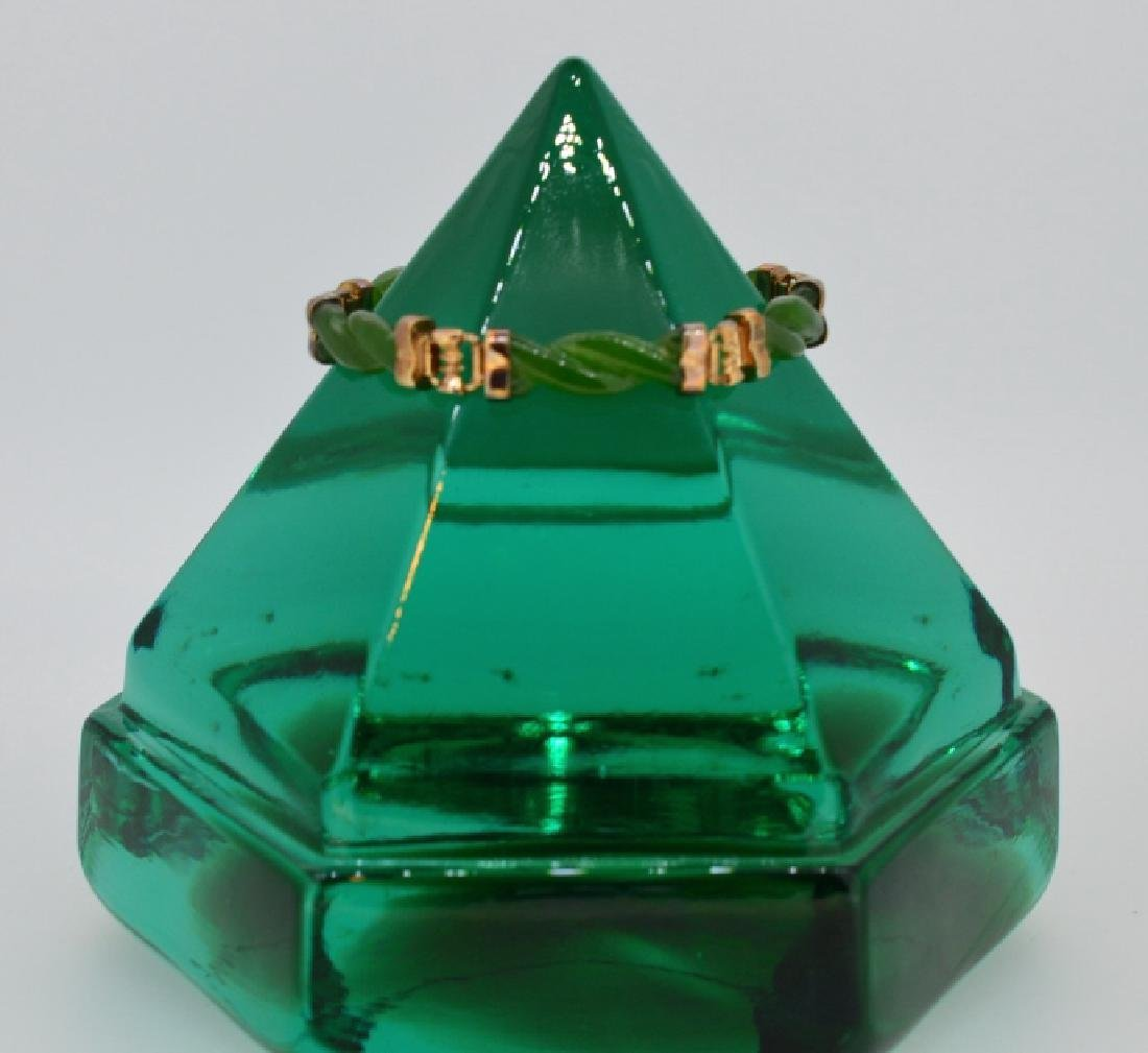 "6"" Twisted Jade Bracelet"
